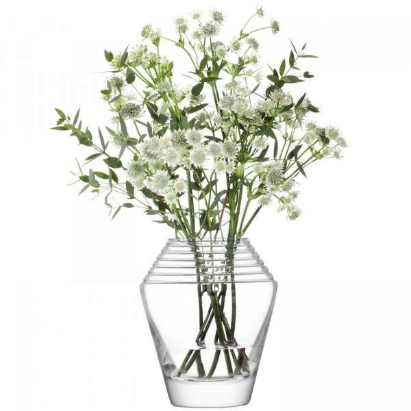 Vase 18 cm klar/geschliffen