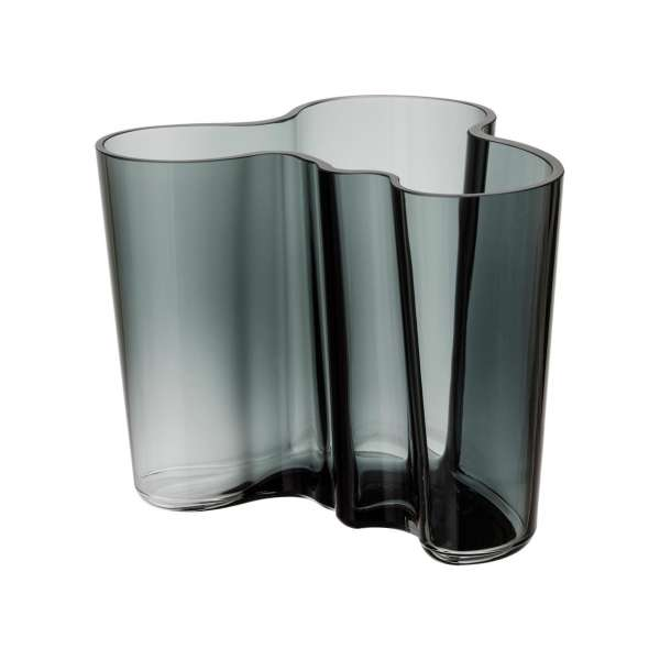 Vase 16 cm dunkelgrau