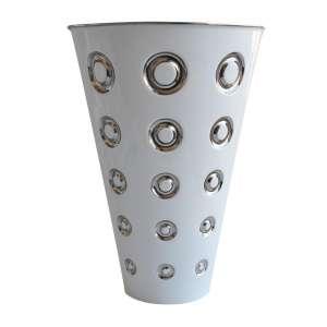 Vase Panarea weiß platin lim. 1000 Stück