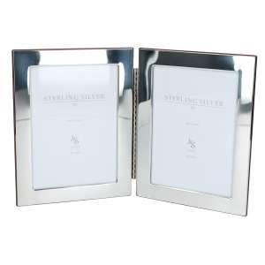 Doppelrahmen m. Scharnier 13x18 cm Sterling Silber