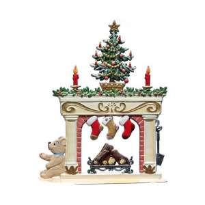 Kamin zu Weihnachten 9,8 cm
