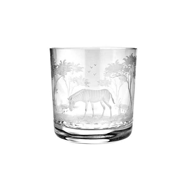 Whiskybecher Zebra 99 mm klar