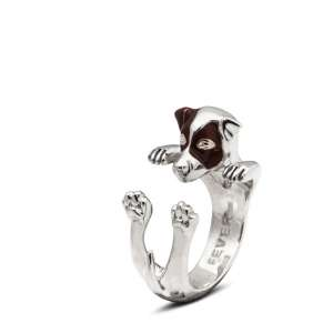 Ring Jack Russell 925/- Sterling Silber M