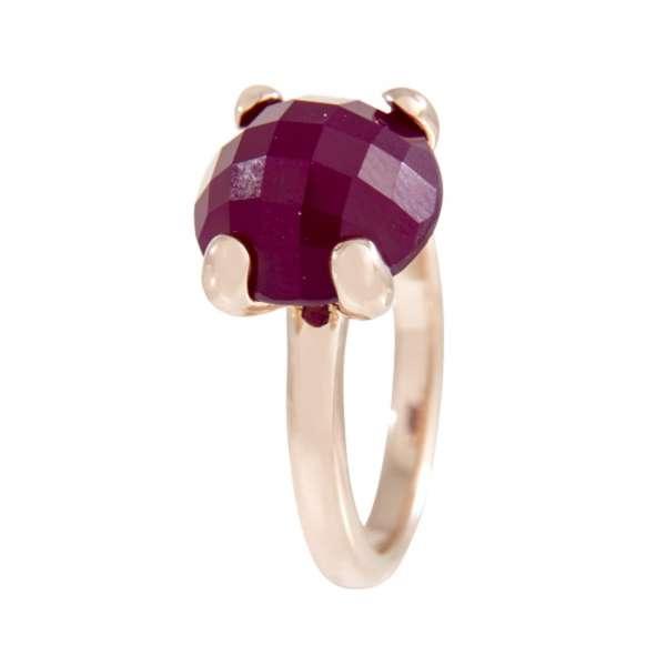 Ring Cocktail Achat violett Bronze plattiert