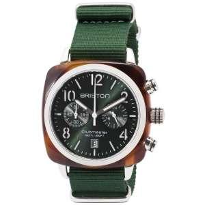 Clubmaster Classic Chronograph Datum britisch grünes Zifferblattt Acetat/Edelstahl