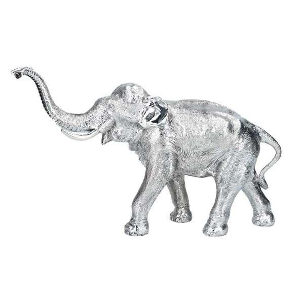 Elefant groß Rüssel oben (250 g Sterlingsilber)