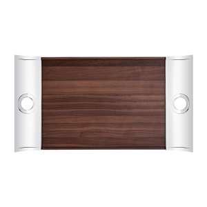 Tablett rechteckig 58x31 cm Edelstahl