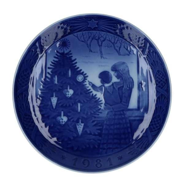 Weihnachtsteller 1981, 18 cm