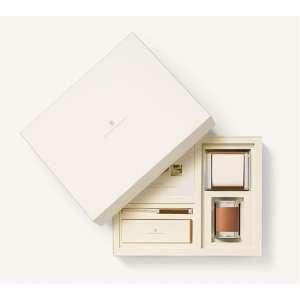 Schreibtischaccessoires-Set klein cognac