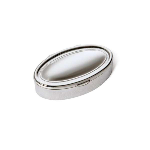Pillendose oval Heavy Sterlingsilber