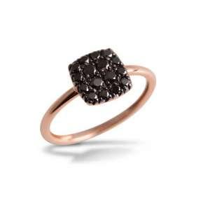 Ring Rosegold 750/- schwarze Diamaten 0,32 ct W55