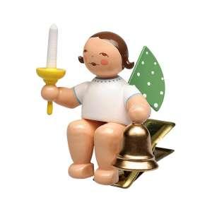 Engel m. Glocke und Kerze, auf Klemme