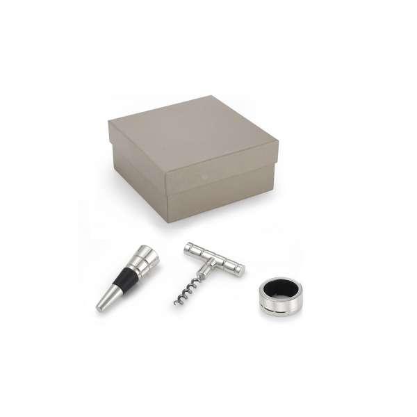 Oenology Gift Box versilbert