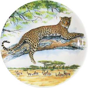 Frühstücksteller 22 cm Leopard