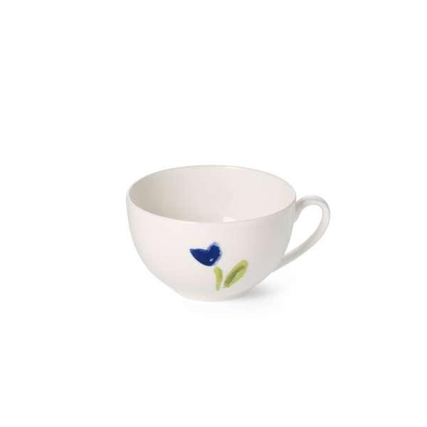 Kaffee-Obere rund 0,25 l blau