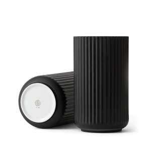 Vase 20 cm matt schwarz