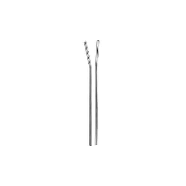 Strohhalm-Set (2 Stk.) 24 cm versilbert