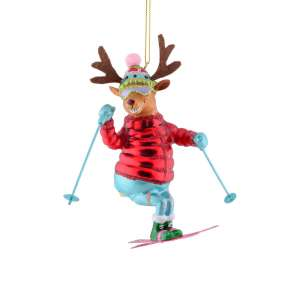 Hänger Skifahrer Rentier