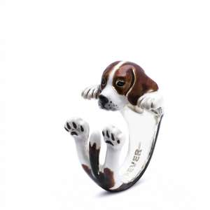 Ring Beagle 925/- Sterling Silber S
