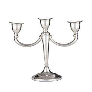 Leuchter 3-armig 24 cm Sterling Silber