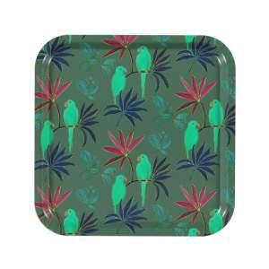Tablett 32x32 cm grün