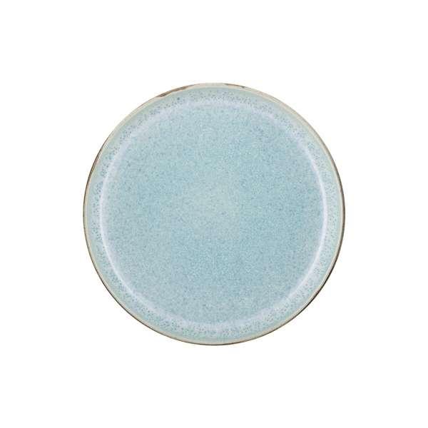 Frühstücksteller 21 cm grau/blau