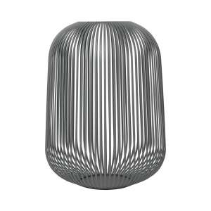 Laterne L 45 cm steel gray
