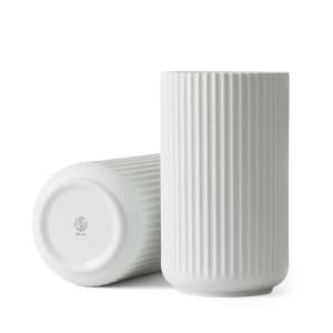 Vase 25 cm matt weiß