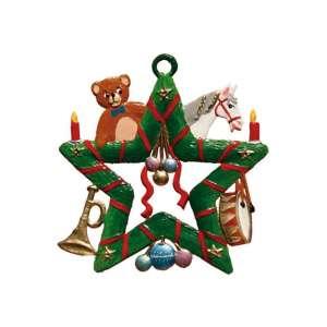 Stern mit Spielzeug 6x6 cm