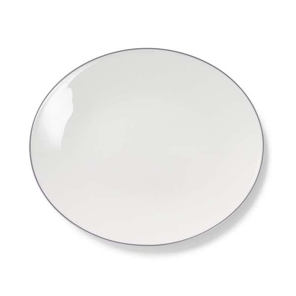 Platte oval 39 cm grau