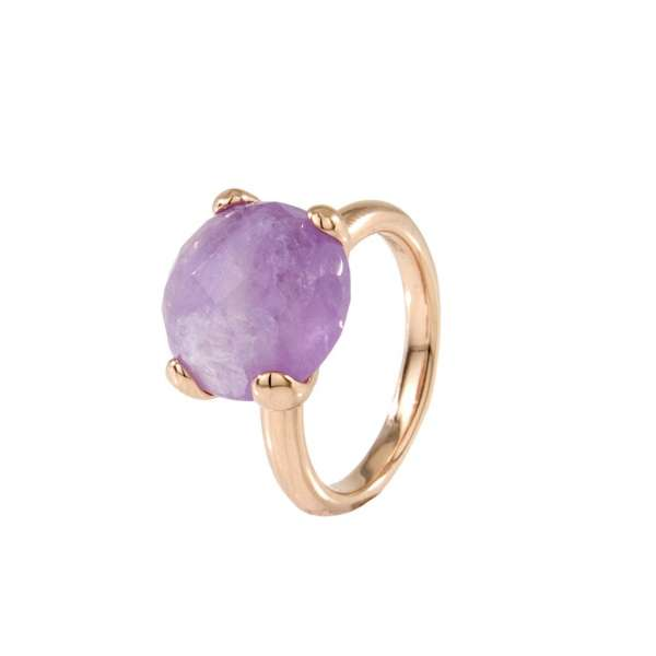 Ring Cocktail Amethyst Bronze plattiert