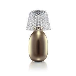 Tischlampe kabellos gold