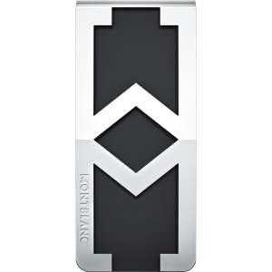 Geldscheinklammer M-Motiv PVD schwarz, Edelstahl