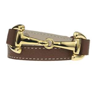 Armband Alba vergoldet, cognac