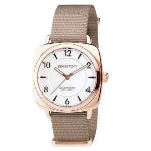 Armbanduhr Clubmaster Chic weißes Zifferblatt Edelstahl/Roségold PVD