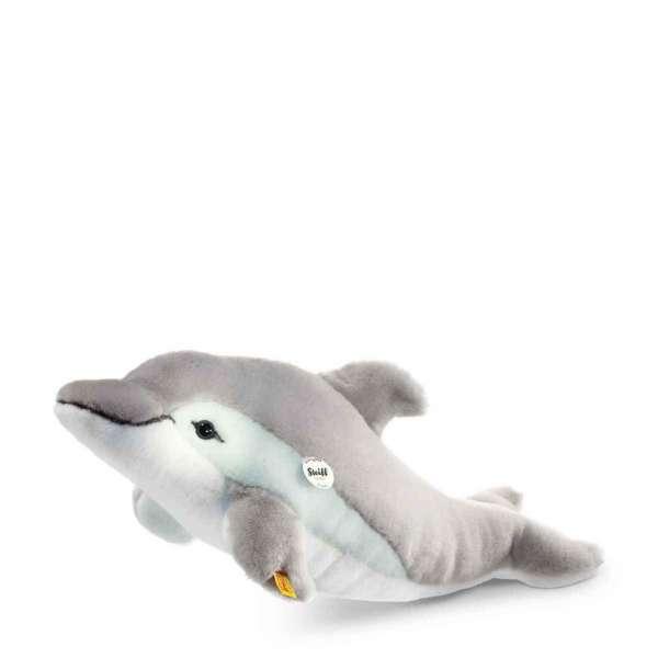 Delphin Cappy 35 cm grau/weiss