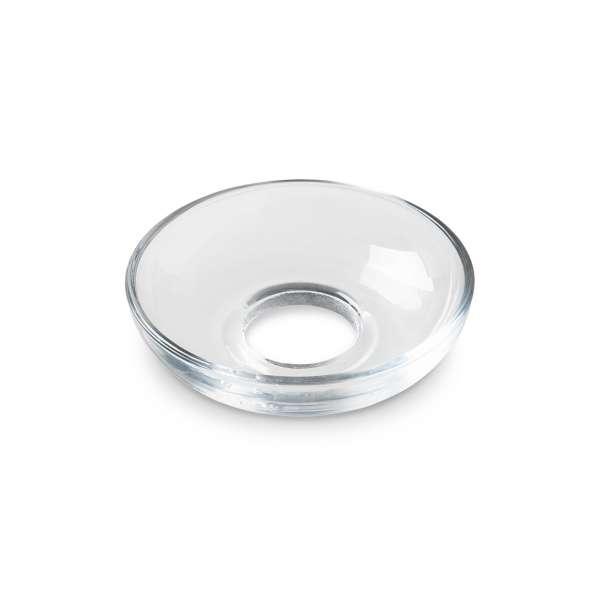 Glasmanschette schalenförmig klar