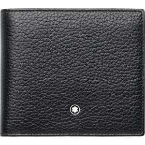 Brieftasche 4 cc Soft Grain, schwarz