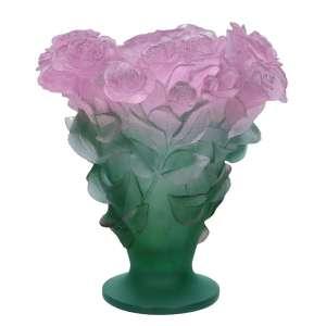 Vase 30 cm rosa/grün