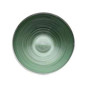Schale 25 cm grün versilbert