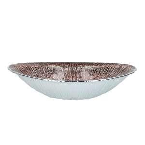 Schale 30x20 cm versilbert braun