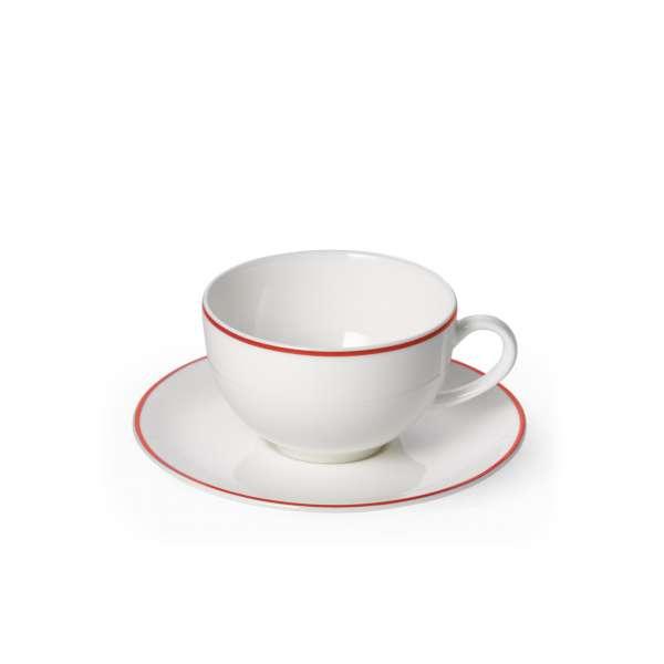 Kaffeetasse m. U. rund 0,25 l rot