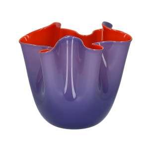 Vase 13,5 cm indigo/orange