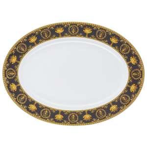Platte oval 40 cm schwarz