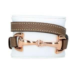 Armband Alba roségold, taupe
