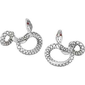 Manschettenknöpfe Schlangendesign, Sterlingsilber