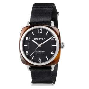 Armbanduhr Clubmaster Chic schwarzes Zifferblatt Acetat/Edelstahl