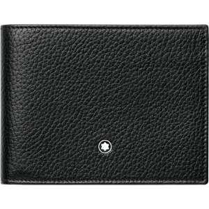 Brieftasche 6 ccSoft Grain, schwarz