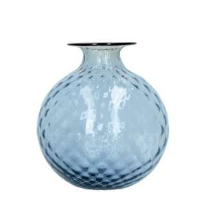 Vase 20,5 cm grape/blutroter Faden