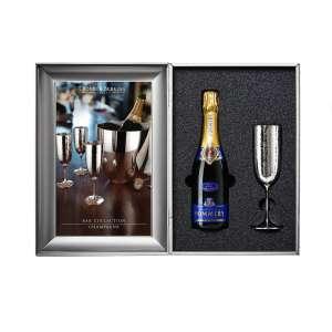 Champagnerkelch - Geschenkset versilbert